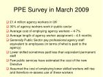 ppe survey in march 2009