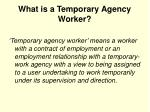 what is a temporary agency worker