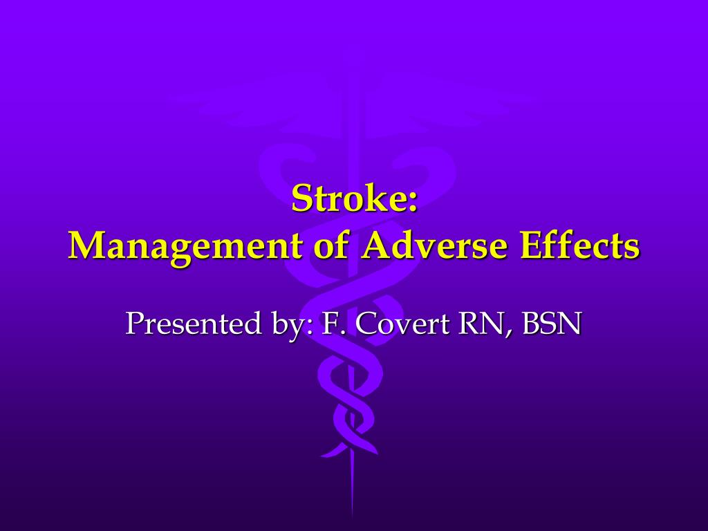 stroke management of adverse effects