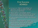 first success adam3334