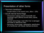presentation of other forms