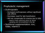 prophylactic management