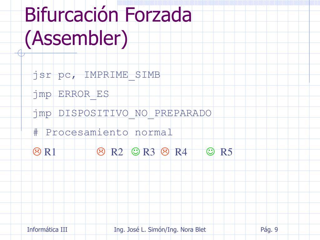 Bifurcación Forzada (Assembler)