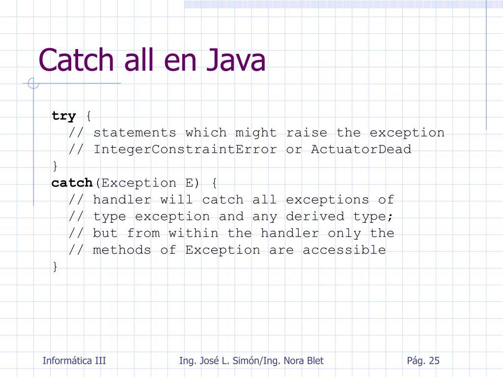 Catch all en Java