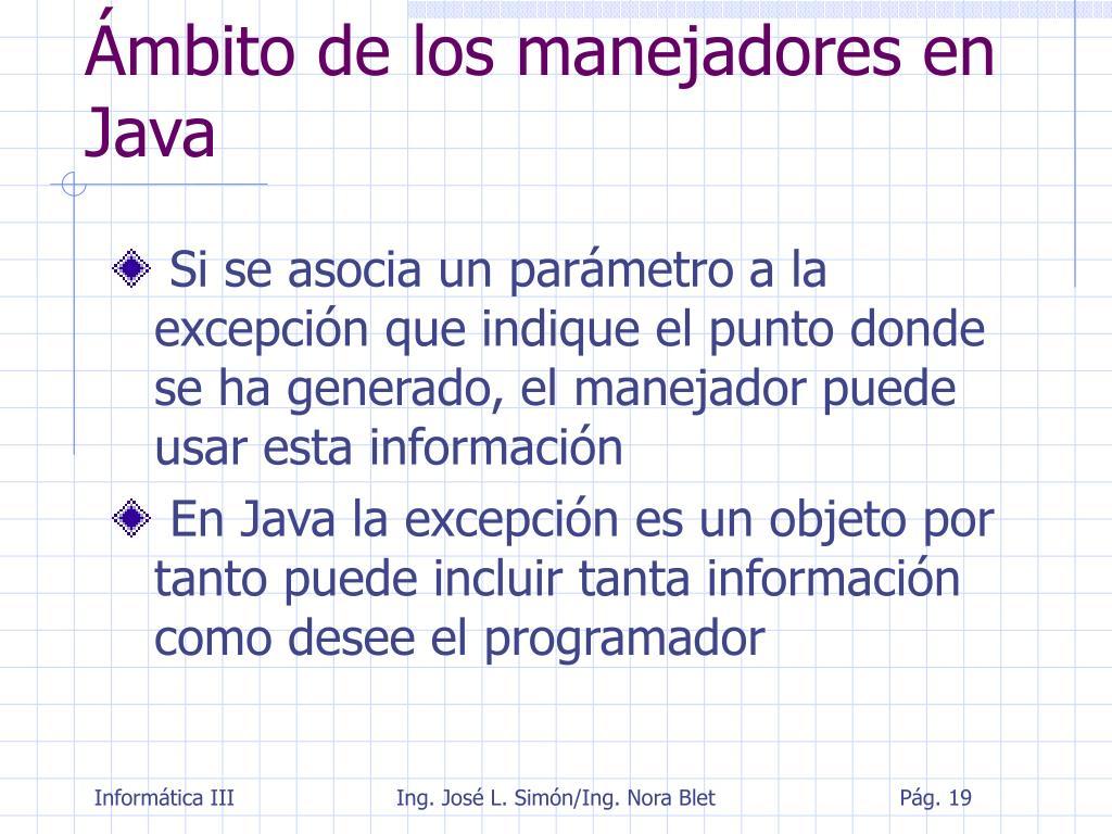 Ámbito de los manejadores en Java