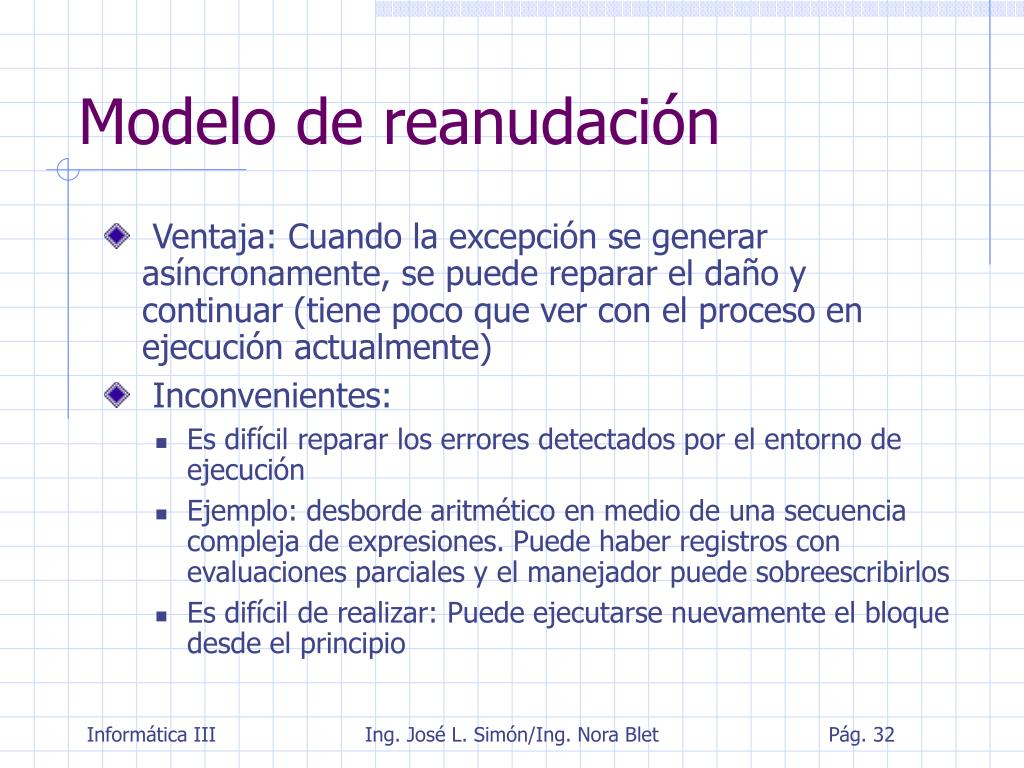 Modelo de reanudación