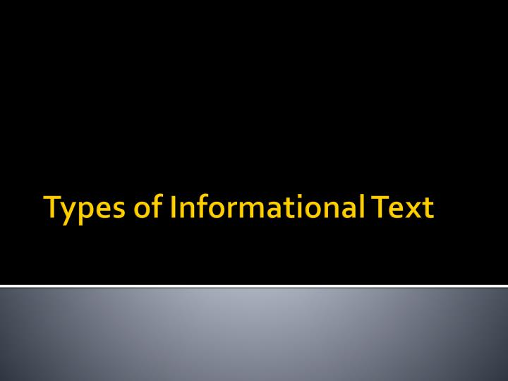 types of informational text n.