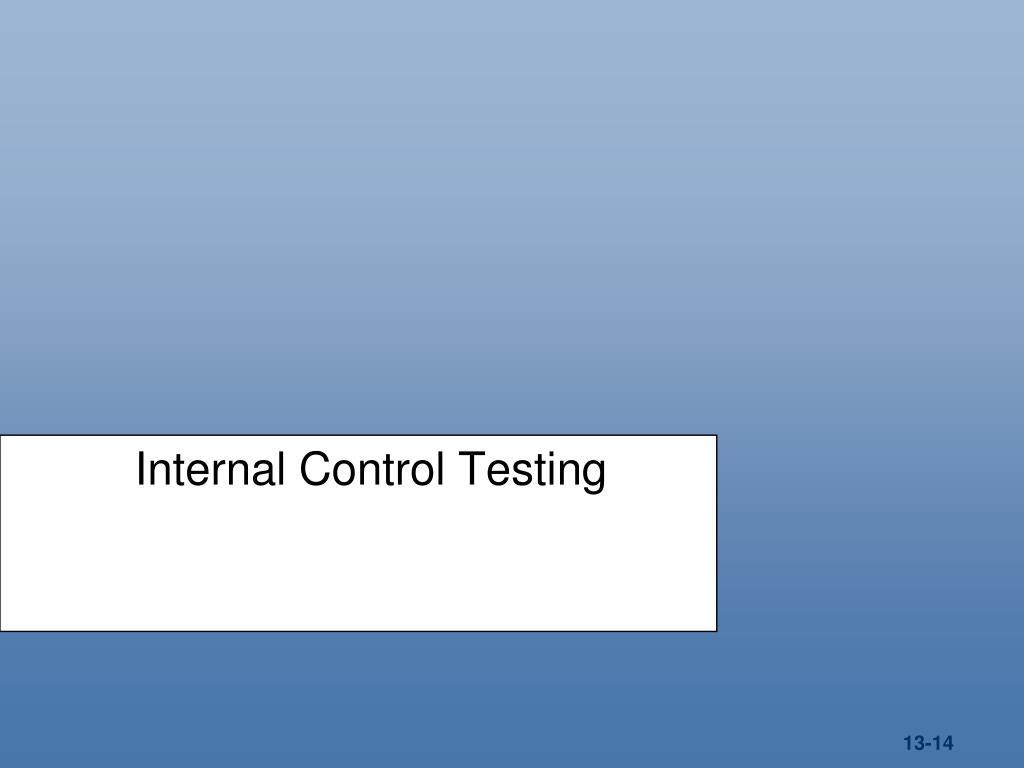 Internal Control Testing
