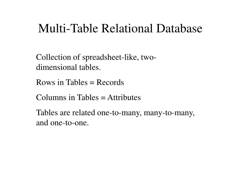Multi-Table Relational Database