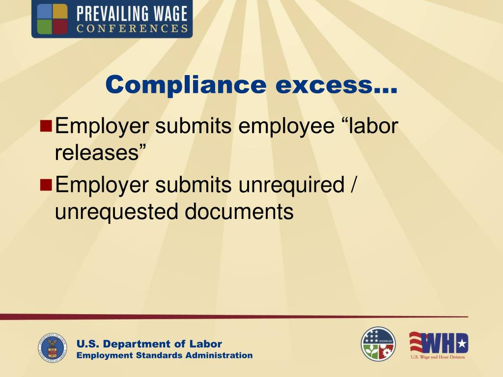 Compliance excess…