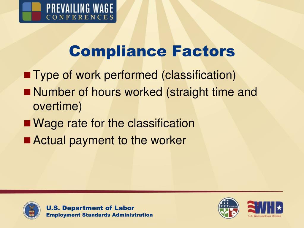 Compliance Factors