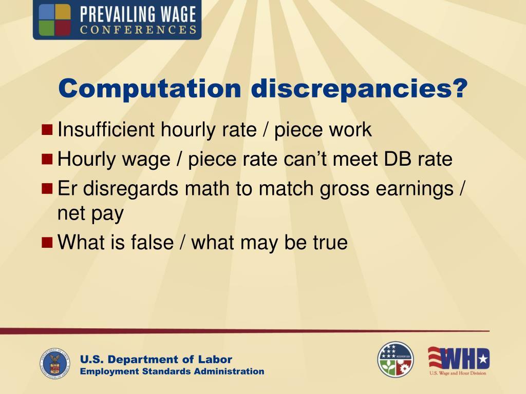 Computation discrepancies?