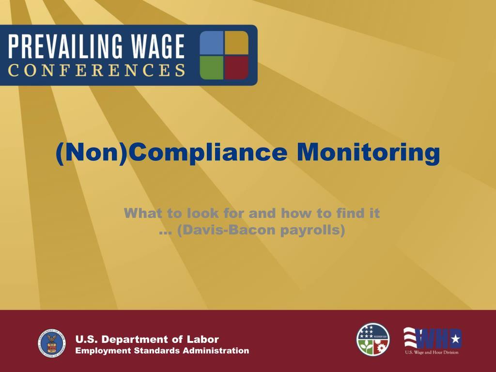 (Non)Compliance Monitoring