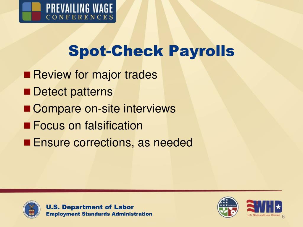 Spot-Check Payrolls