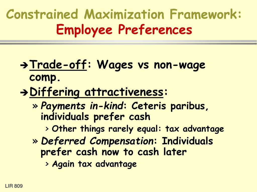 Constrained Maximization Framework:
