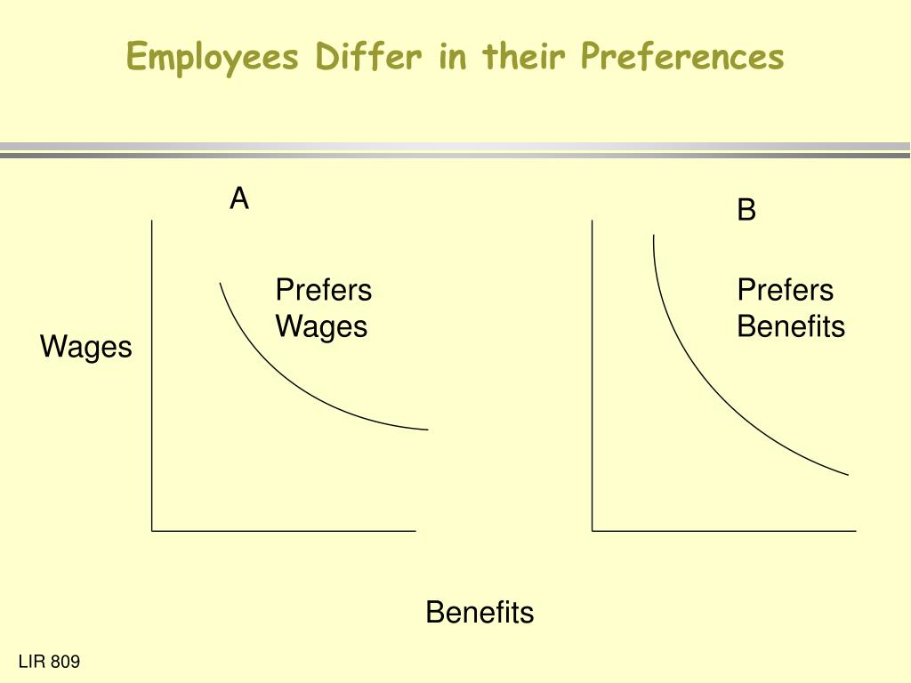 Employees Differ in their Preferences