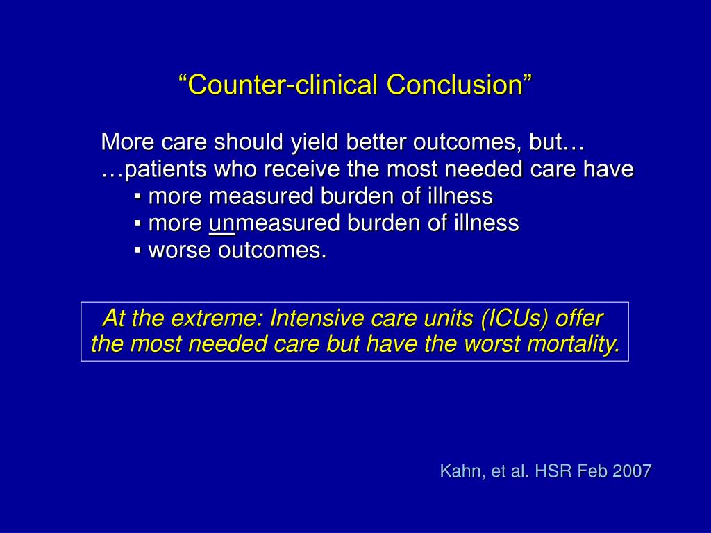 """""""Counter-clinical Conclusion"""""""