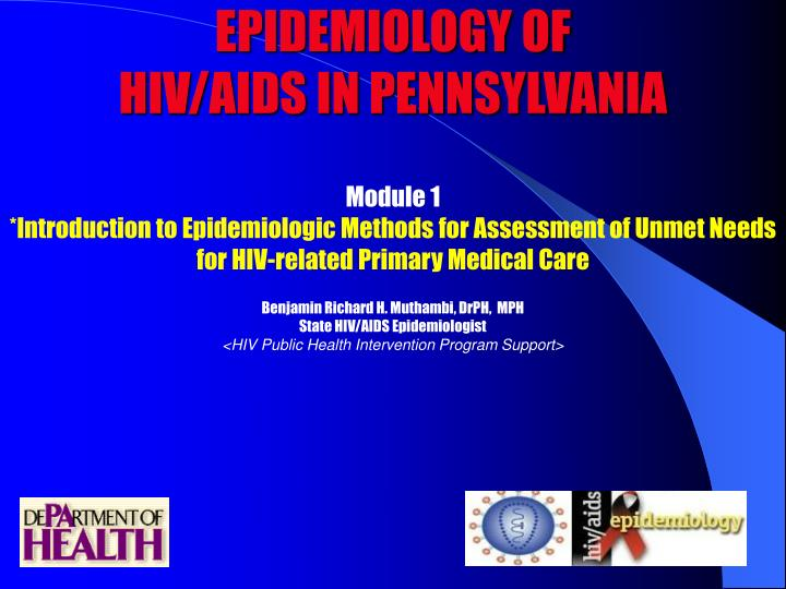 epidemiology of hiv aids in pennsylvania n.