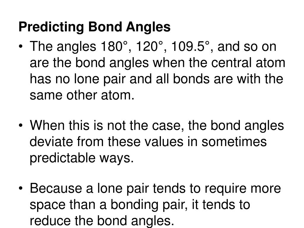 Predicting Bond Angles