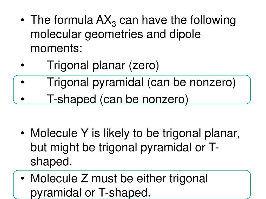 The formula AX