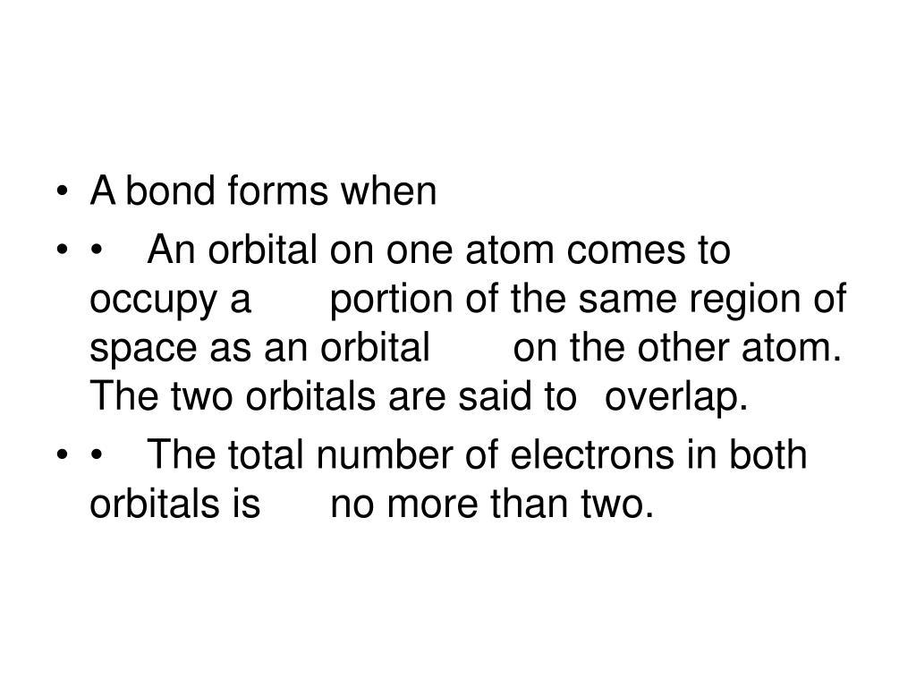 A bond forms when