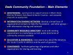 dade community foundation main elements