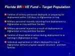 florida br ai ve fund target population