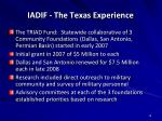 iadif the texas experience