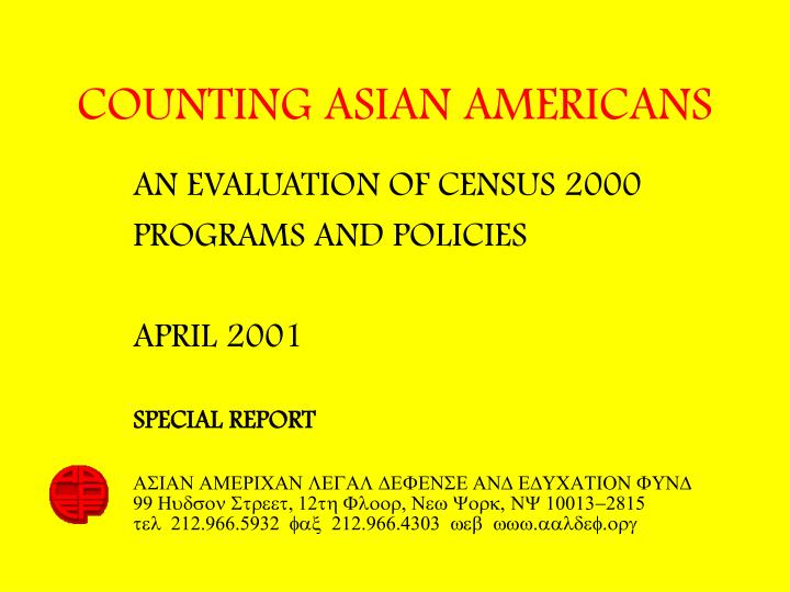 Counting asian americans