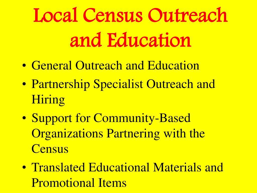 Local Census Outreach and Education