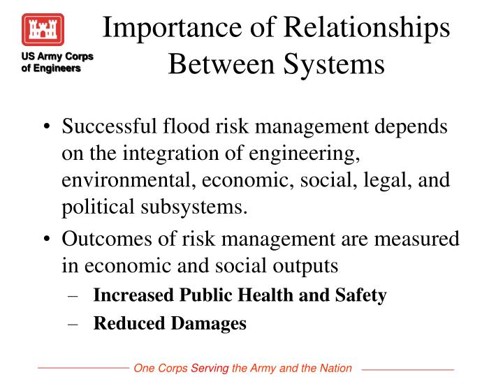 Importance of relationships between systems