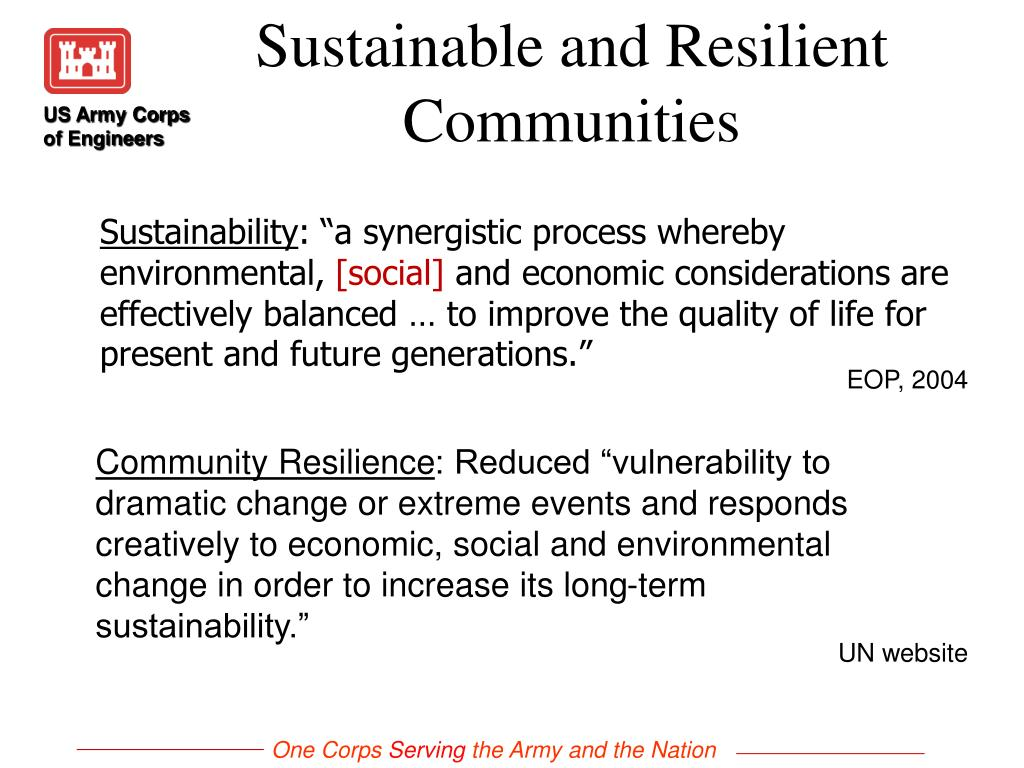 Sustainable and Resilient