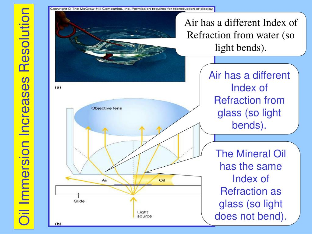 Air has a different Index of Refraction from water (so light bends).