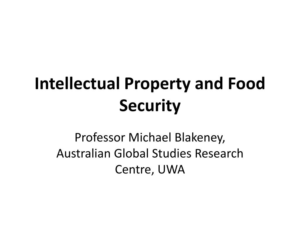 intellectual property and food security
