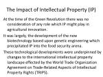 the impact of intellectual property ip