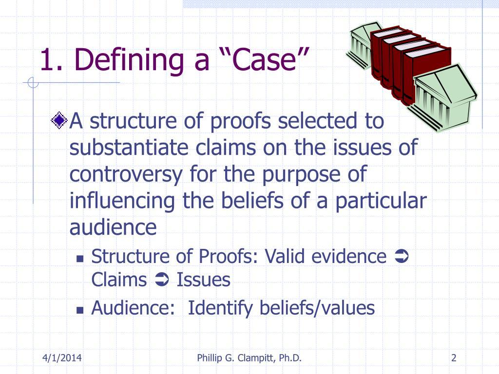 "1. Defining a ""Case"""