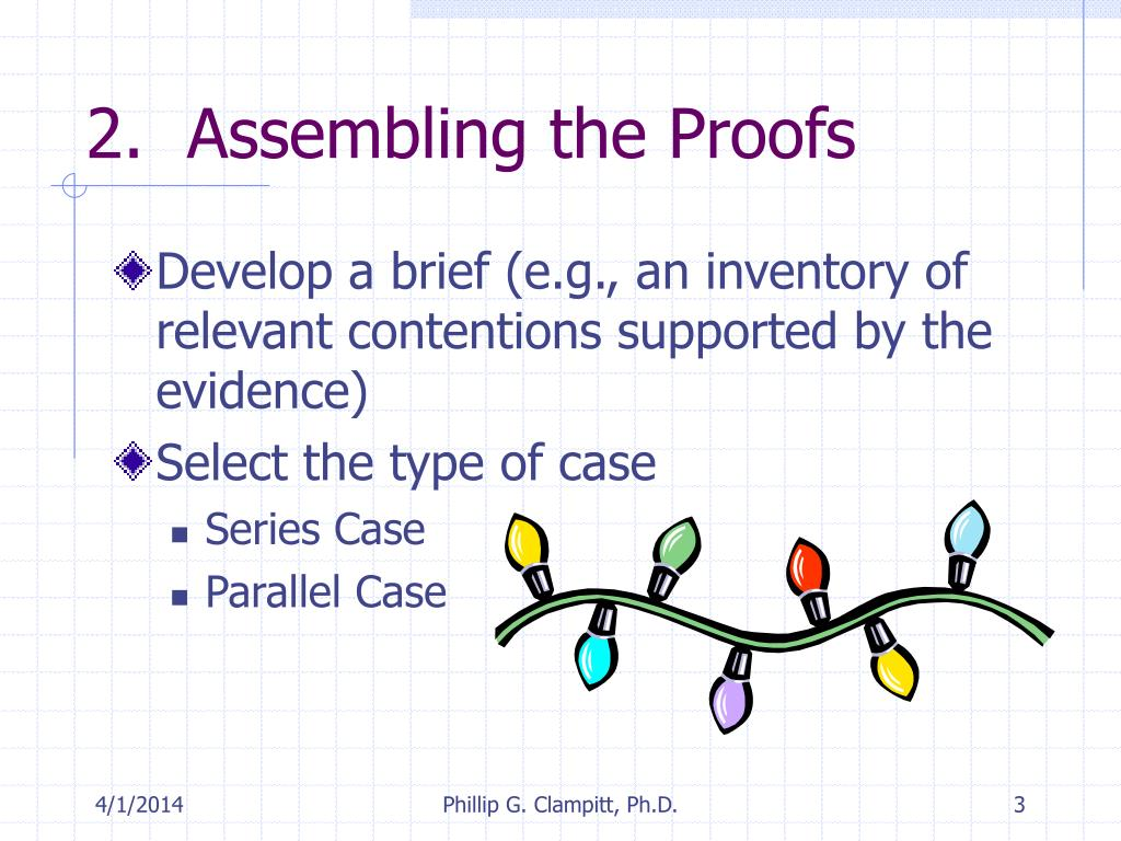 2.  Assembling the Proofs