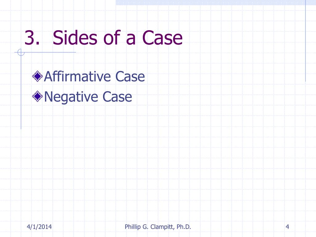 3.  Sides of a Case