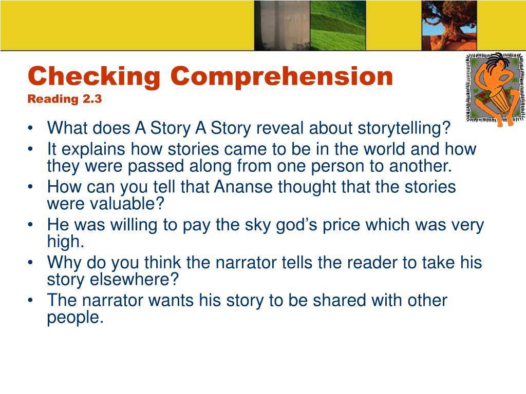 Checking Comprehension