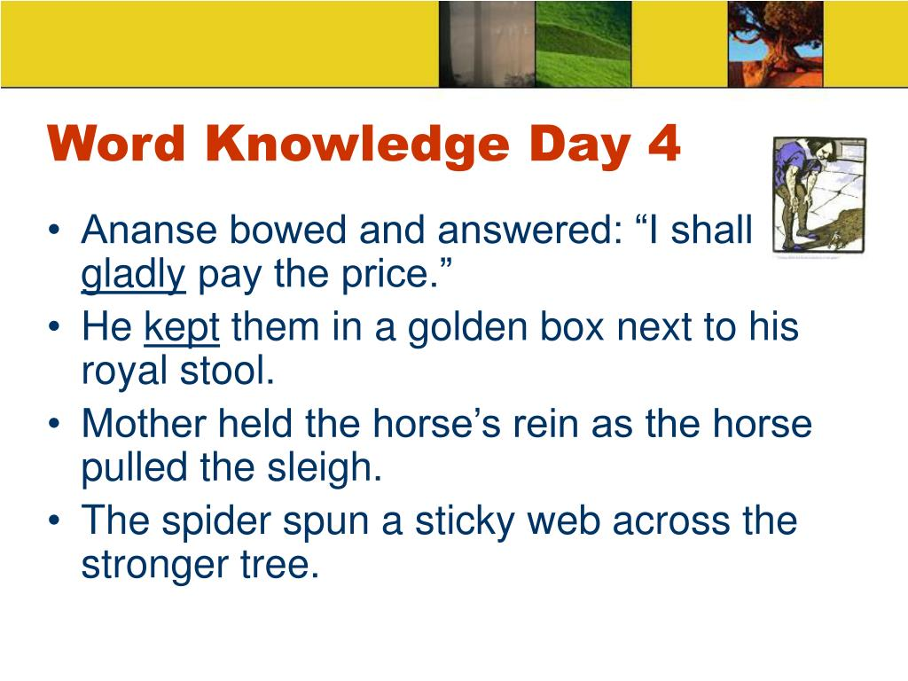 Word Knowledge Day 4