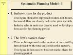 systematic planning model i