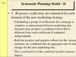 systematic planning model ii