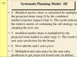systematic planning model iii