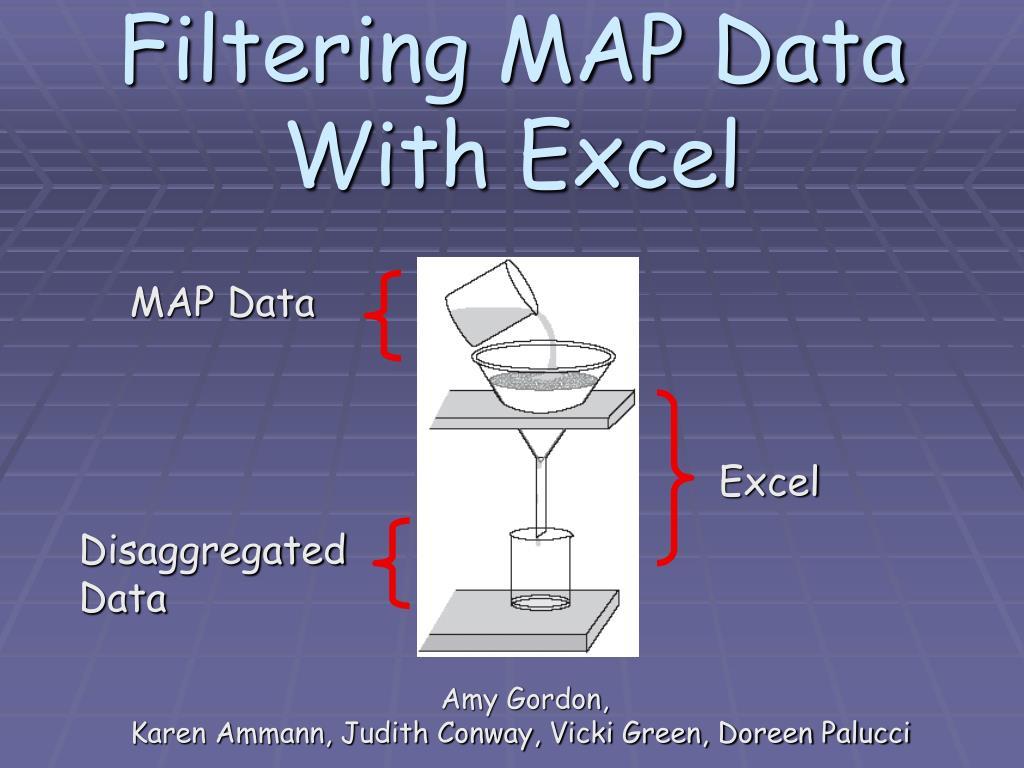 Filtering MAP Data