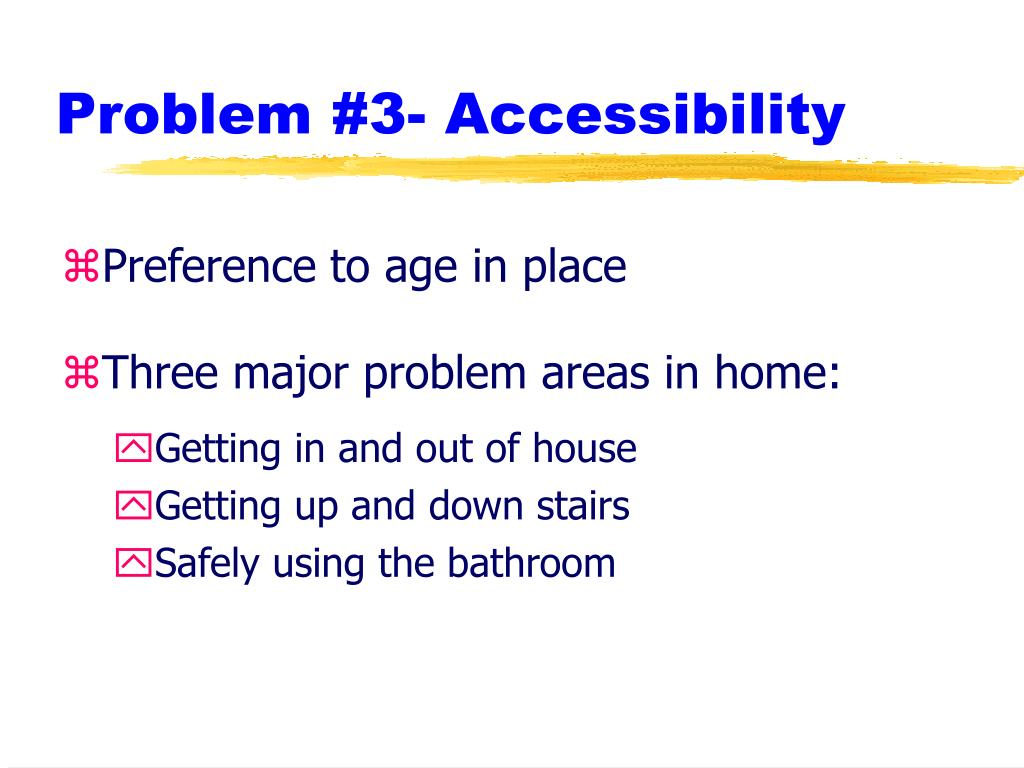 Problem #3- Accessibility
