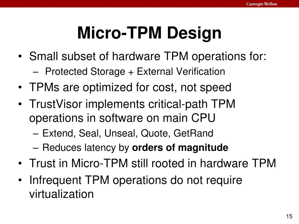 Micro-TPM Design