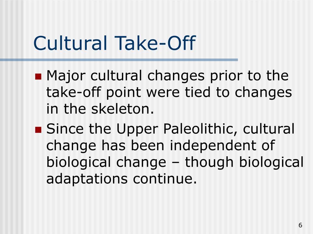 Cultural Take-Off