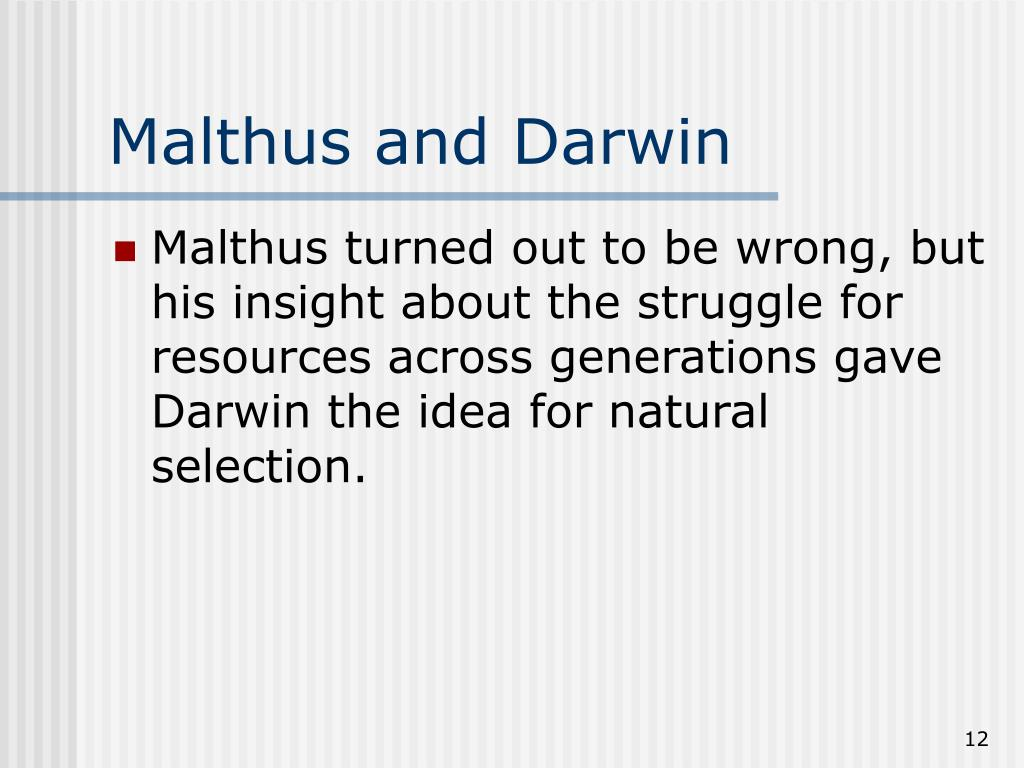 Malthus and Darwin