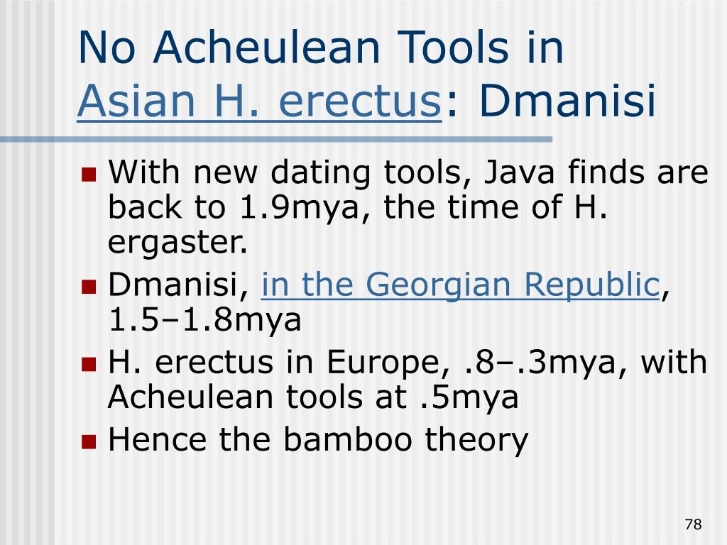 No Acheulean Tools in