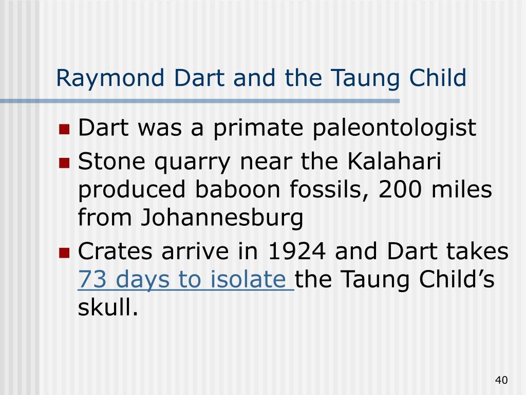 Raymond Dart and the Taung Child